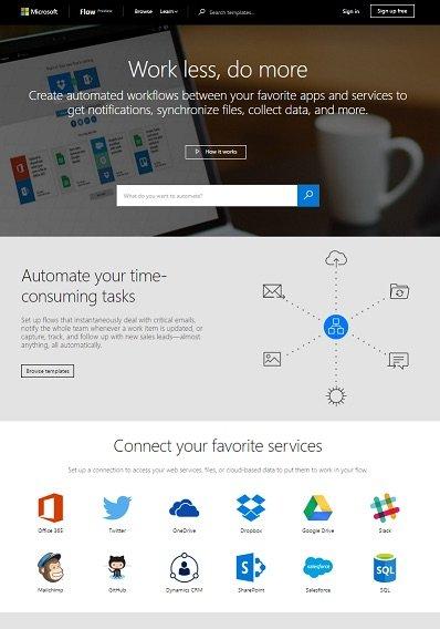 MSFT Flows Screen shot