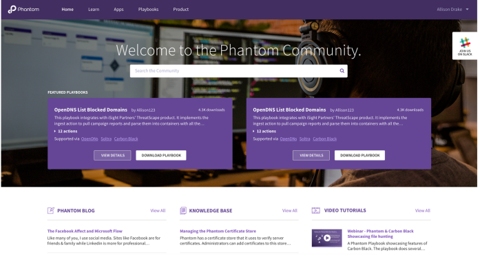 New Phantom Community Portal