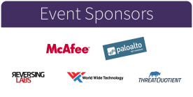 Phantom SOC Event Sponsors - McAfee, Palo Alto Networks, ReversingLabs, World Wide Technology (WWT), and ThreatQuotient